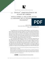 "El ""estilo"" arqueológico de Alain de Libera"