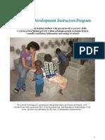 Information About DNYS - Development Instructor Program 2010