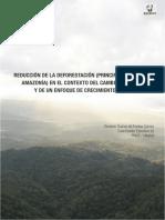 Reduccion de Deforestacion