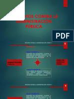 Delitos Contra La Adm. Pública. GENERALIDADES
