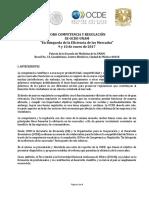 Agenda Foro Competencia y Regulacion 2017