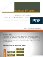 3.1 Materiales Directos (1)