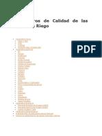 PARAMETROS DE CALIDAD DE LAS AGUAS DE RIEGO
