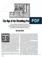 The Age of Disabling Professions, by Ivan Illich