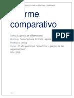 Informe comparativo