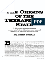 The Origins of the Therapeutic State, by Peter Schrag