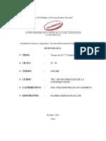 Informe 1 Unidad Tec. de Materiales de La Const.