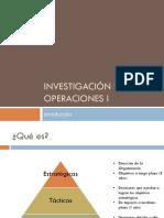 Investigación de Operaciones I - Clase 1