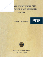 Bloomfield, AI - Monetary Policy Under the International Gold Standard, 1880-1914