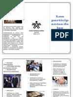 Folleto Los Prticipantes de Una Organisacion (1)