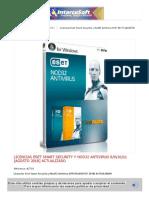 Licencias Eset Smart Security y Nod32 Antivirus 8-9-10_11 [AGOSTO 2018]