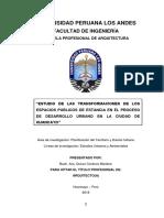 Esquema Del Informe Tesis Arquitectura