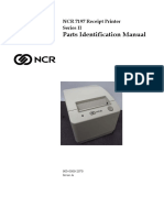 NCR 7197 Receipt Printer Series II Parts Identification Manual
