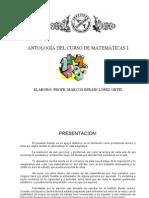 ANTOLOGÍA DEL CURSO DE MATEMÁTICAS I
