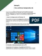 Borrar los archivos temporales de Windows 10.docx