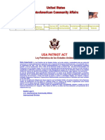 Ley Patriotica de Los Estados Unidos - USA Patriot Act