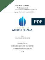 2 Kewirausahaan, Intan Fitria, Hapzi Ali, Motivasi Pengusaha Sukses, Universitas Mercu Buana, 2018