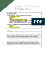 assignment 2 - differetiated menu board lesson