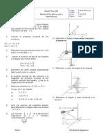 Práctica de Producto Escalar y Vectorial