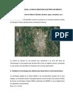 Práctica Individual La Nueva Industria Eléctrica en México