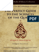 Perfect Guide to the Sciences of the Quran by Imam Al-Suyuti