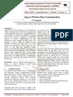 Li-Fi Technology in Wireless Data Communication