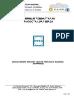 Formulir Pendaftaran Keanggotaan Apindo