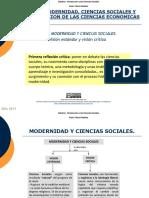 Modernidad y Ciencias Sociales