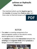 Fluid Machines or Hydraulic Machines