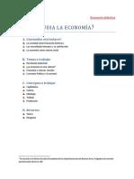 Qué Es La Economía Secuencia Didáctica