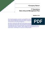 Data Lifecycle Mgt Plan