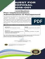 Publicnotice-rfp-2018-001 Solicitud de Propuestas Para Administrar El Plan Pay as You Go (Retiro)
