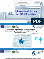 Information Literacy in USARB syllabus