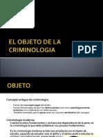 Tema II Objeto de La Criminalogia