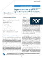 Applications of Protein Resistant Polymer and Hydrogel Coatings on Biosensors and Biomaterials