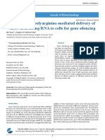 Oligopeptide Polyarginine Mediated Delivery of Short Interfering RNA to Cells for Gene Silencing