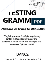 Testing Grammar (New Ppt)