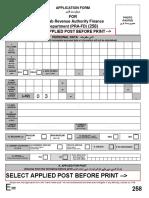 Application & Challan Form