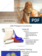 Introduction to and History of Philosophy Prof. Sam Bernales Jr.