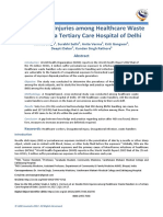 Needle Stick Injuries among Healthcare Waste Handlers in a Tertiary Care Hospital of Delhi