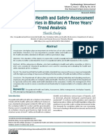 Occupational Health and Safety Assessment of the Industries in Bhutan