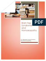 The Brain Fag Syndrome and Homoeopathy