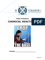 chemical reaction booklet