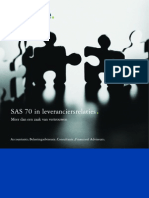 Deloitte SAS70 in Leveranciersrelaties
