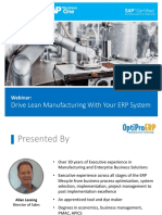 Drive Lean Manufacturing With Your ERP System | OptiProERP