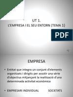 Ut 1. l'Empresa i El Seu Entorn Veu. Pptx