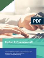 Die Perfion E-Commerce API ist für die  Kommunikation mit E-Commerce-Systemen konzipiert