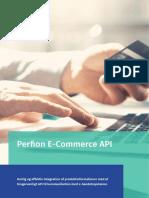 Perfion E-Commerce API er skræddersyet til kommunikation med e-handelsportaler