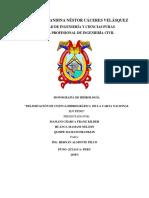 Delimitación de La Cuenca Hidrológica de La Carta Nacional