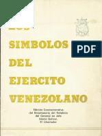 Los Simbolos Del Ejerctio de Venezuela 1983